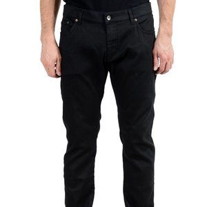 Dolce & Gabbana Faded Black Straight Leg Men Jeans